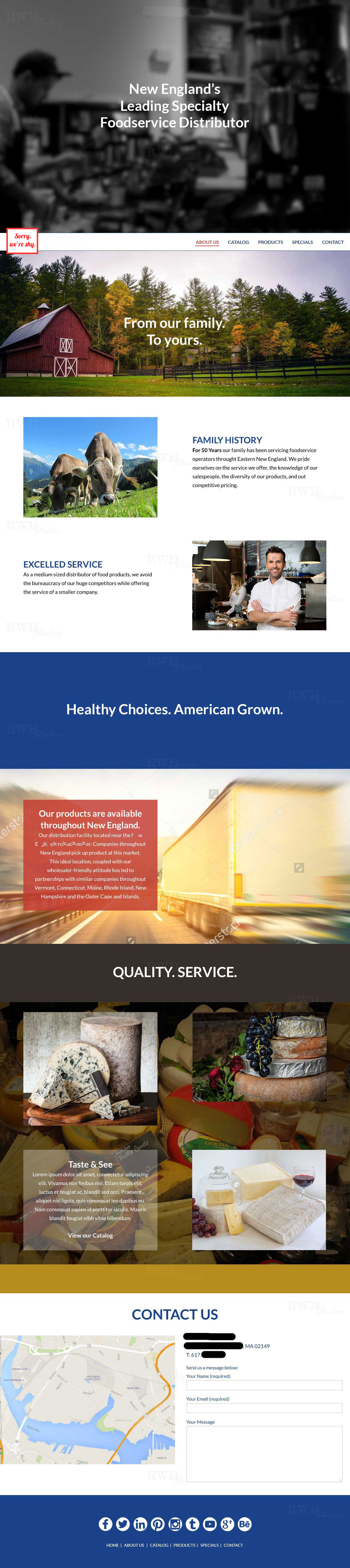 Food Services Website